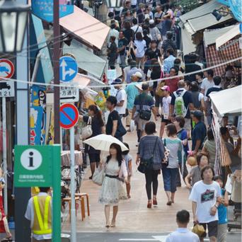 荒川区の商店街 画像